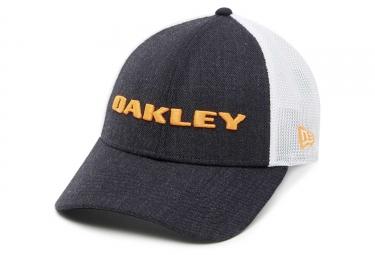 Casquette oakley snapback heater new era noir blanc neon orange