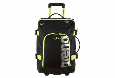 Bagage cabine arena fast trolley noir jaune fluo