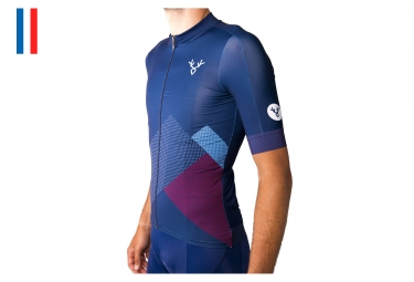 LeBram Glières Short Sleeves Jersey Blue Pro Fit (3 pockets)