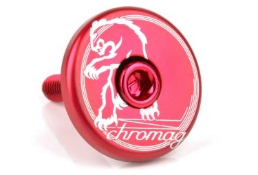 Chromag Top Cap Red 1 1/8''