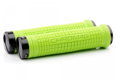 Puños Chromag Squarewave XL - green black