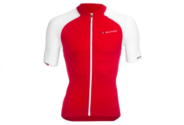 Maillot manches courtes x bionic race rouge blanc s