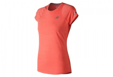 T-shirt New Balance Seasonless Orange Femme