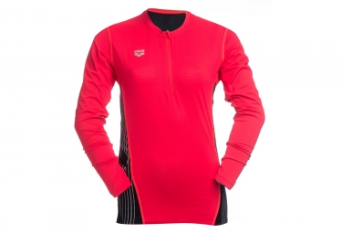 Maillot Manches Longues Arena Noir Rouge