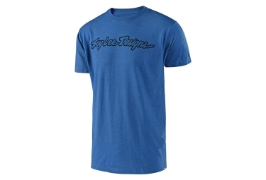 T shirt troy lee designs signature bleu m