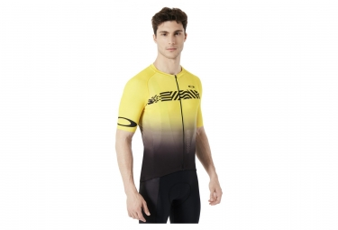 Maillot de route oakley colorblock tour de france noir jaune s