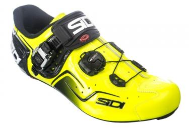 Chaussures route sidi kaos sidi noir jaune fluo 42