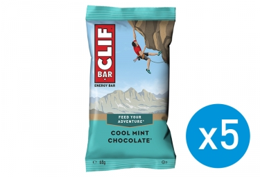 5x Clif Bar Cool Mint Chocolate Energy Bar