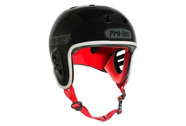 Casque bmx pro tec full cut gloss black noir s 54 56 cm