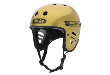 Casque BMX Pro-tec Full Cut Certified Gold Flake / Jaune