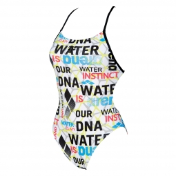 Maillot de bain femme arena water evolution one blanc 34