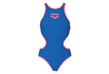 Maillot de bain femme arena biglogo bleu 34