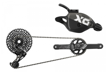 Sram X01 Eagle DUB 12 Speed Boost Groupset - Black / White (BB Not Included)