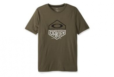 T shirt manches courtes oakley split hex tee vert khaki s