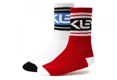 2 paires de chaussettes oakley fs block socks blanc rouge 43 46