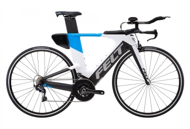 FELT IA14 Matte Carbone Triathlon Bike White Blue