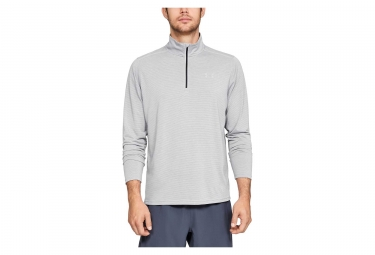 Maillot Manches Longues Demi-Zip Under Armour Threadborne Streaker Gris
