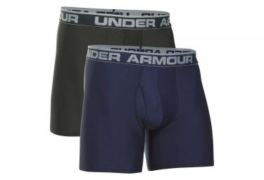 Lot de 2 Boxers Under Armour Original Series Boxerjock 15 cm Bleu Kaki