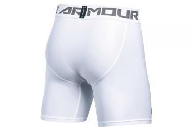 Short de Compression Under Armour HeatGear Armour 2.0 Blanc