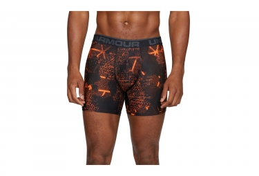 Lot de 2 Boxers Under Armour Original Series Printed Boxerjock 15 cm Gris Orange