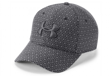 Under Armour Printed Blitzing 3.0 Stretch Fit Cap Grey Black