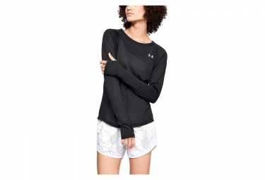 Under Armour Microthread Streaker Women Long Sleeves Jersey Black