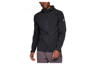 Veste coupe vent deperlant under armour outrun the storm noir l