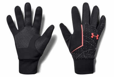 Under Armour Storm Run Liner Guantes forro negro naranja