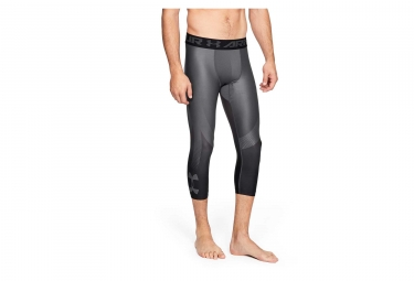 Collant 3/4 de Compression Under Armour HeatGear Armour 2.0 Graphic Gris Noir