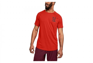 Under Armour MK-1 Logo Graphic Short Sleeves Jersey Red