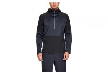 Under Armour StormCyclone Windbreaker Half-Zip Jacket Black Blue