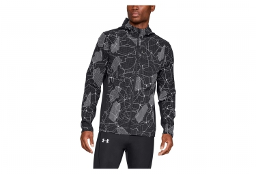 Under Armour Outrun The Storm Printed Water-resistant Jacket Black