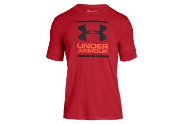 Maillot manches courtes under armour gl foundation rouge l
