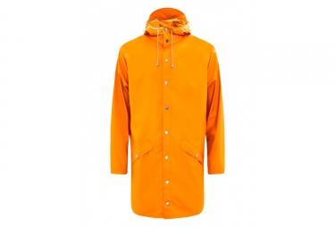 Rains Long Jacket Waterproof Jacket Fire Orange