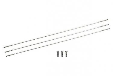 Kit of 3 Rays Zipp 246mm Silver