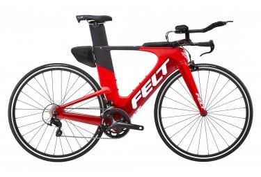 Velo de triathlon felt ia16 shimano 105 11v rouge 54 cm 162 189 cm