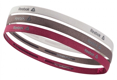 Reebok One Series Women Mini Headbands (juego de 3) Pink Grey Brown