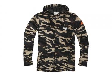 Veste a capuche 100 apache coupe vent et deparlant camouflage m