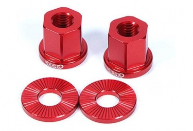Vocal BMX Axle Nuts 14mm Red