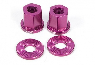 Vocal BMX Axle Nuts 14mm Purple