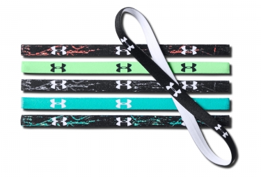 Under Armour Women Mini Headbands (set de 6) Black Green