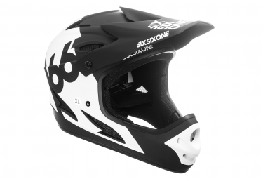 Casque integral 661 sixsixone comp blanc noir xl 60 61 cm