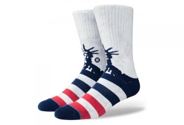 Chaussettes stance liberties blanc bleu rouge 43 46