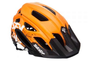 Casque vtt seven m2 gradient orange noir blanc xs s 52 55 cm