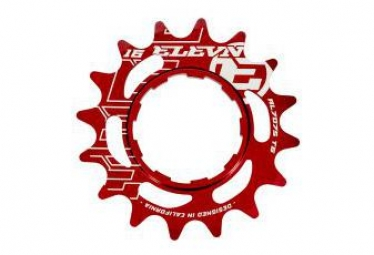 Pignon Elevn Aluminium Shimano Rouge