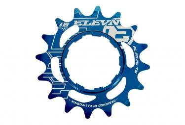 Pignon Elevn Aluminium Shimano Bleu