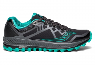 lowest price 2173a 5ae6b Saucony PEREGRINE 8 GTX Black Grey Blue Women