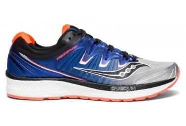 Zapatillas Saucony Triumph ISO 4 para Hombre Plata / Azul / Rojo
