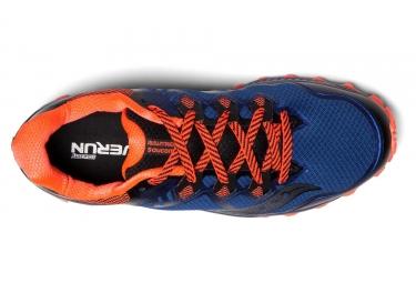 Chaussures de Trail Saucony Peregrine 8 Noir / Bleu / Orange