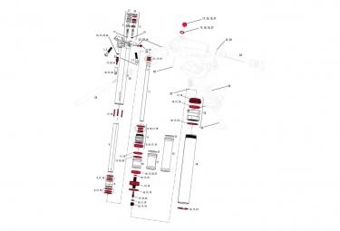 Kit joints ROCKSHOX Service Kit REVERB A2 11.6818.021.010